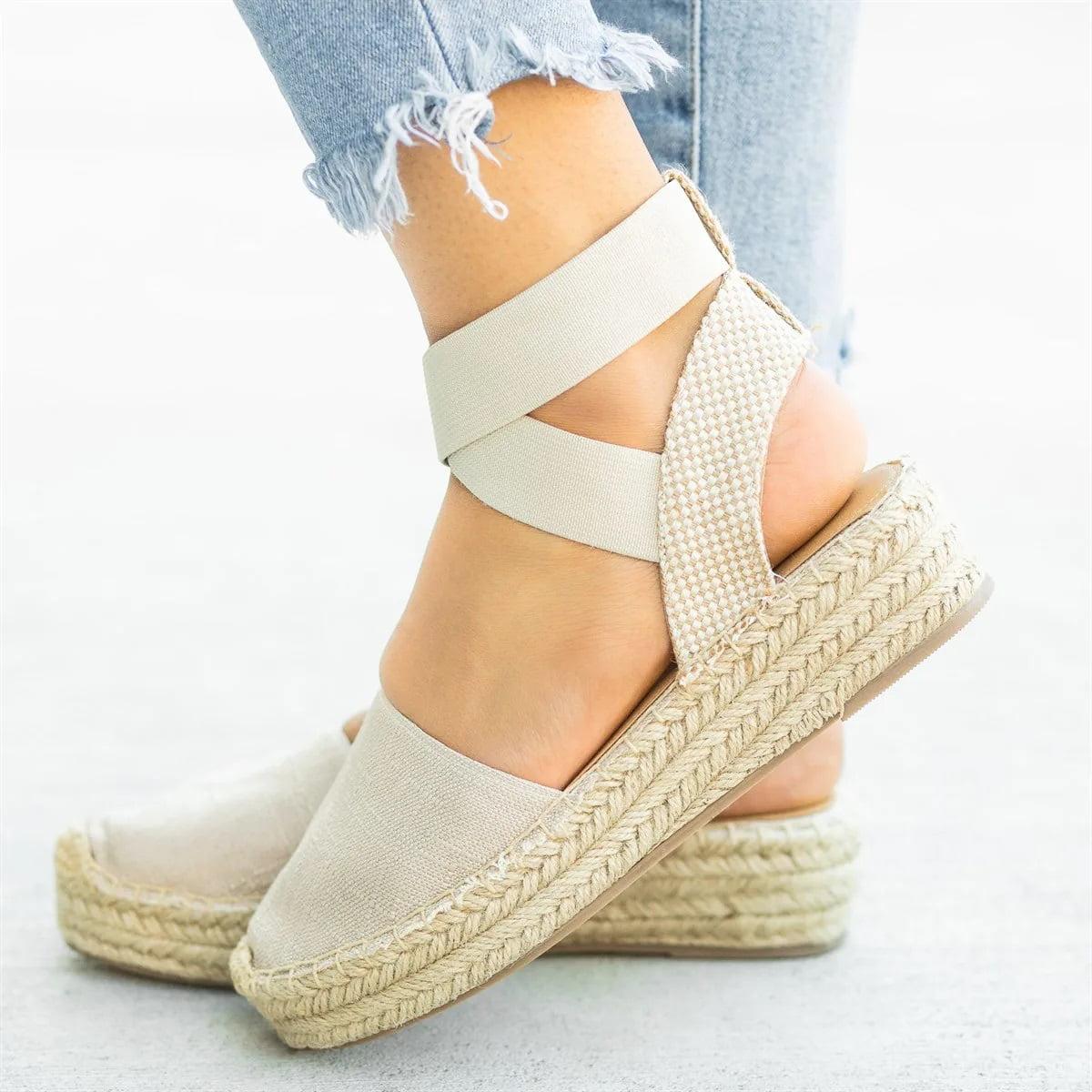 Womens Vava-1 Low Heel Sandal Nude