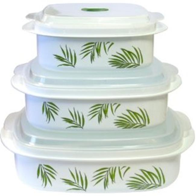 Reston Lloyd Bamboo Leaf  - Microwave Cookware Set - Corelle