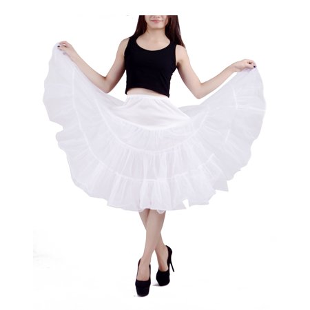 Plus Size Snow White (Women's Plus Size Petticoat Vintage Swing Dress Underskirt Tutu Skirt (2XL-3XL,)
