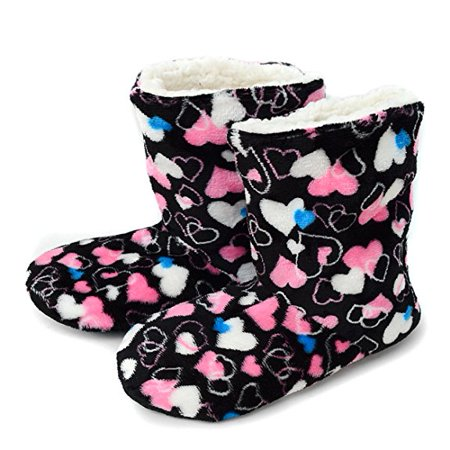 Women's Snuggled hearts House Slipper Booties