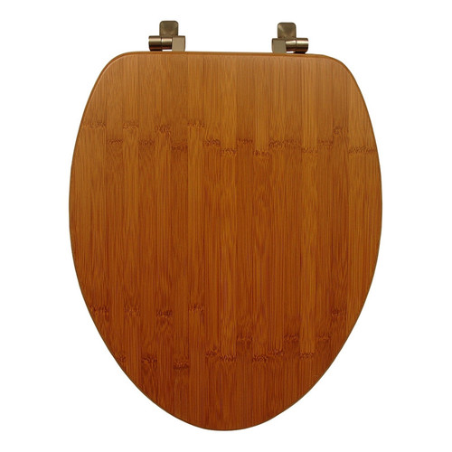 Mayfair 159401NI Wood Elongated Toilet Seat, Bamboo by Mayfair