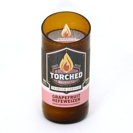 Torched Grapefruit Hefeweizen 8 OZ Beer Bottle Scented Candle