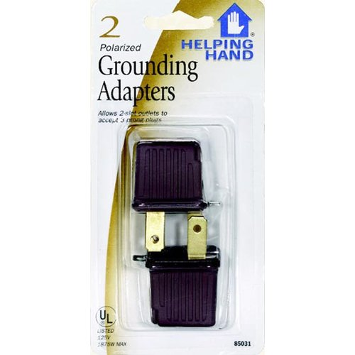 HelpingHand Polarized Grounding Adapter (Set of 2)