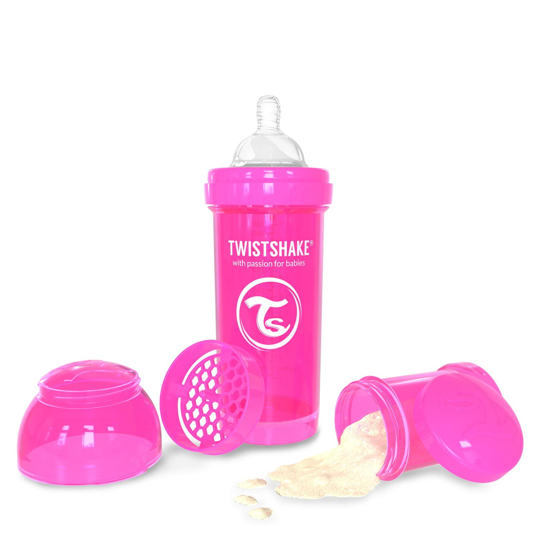 Twistshake Anti-Colic Baby Bottle & Accessories 260ml 8oz Pink Crazymonkey by Twistshake