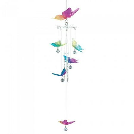 Summerfield Terrace Rainbow Butterfly Wind (Decorative Wind Chimes)