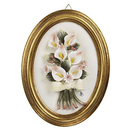 5th Avenue Collection Porcelain Calla Lily Wall Decor Capodimonte ...