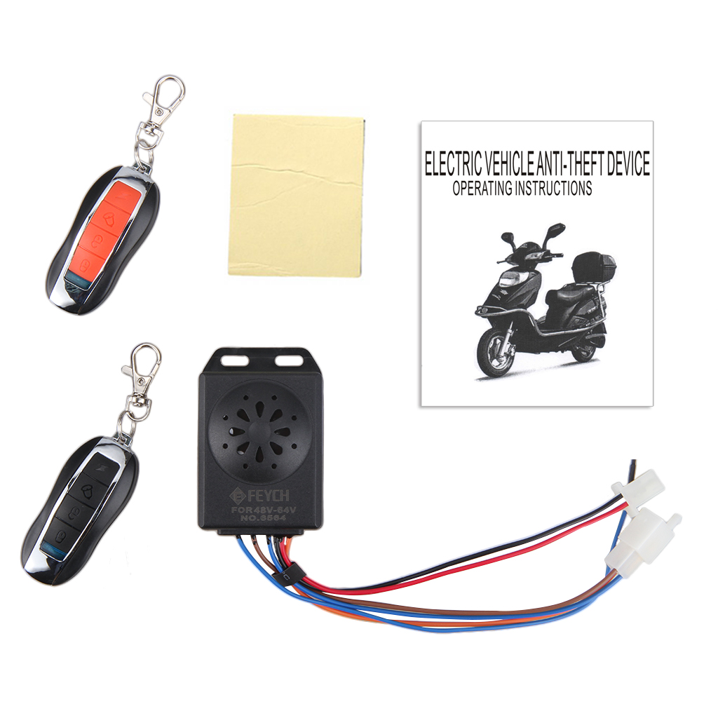 Electric Scooter Motorcycle Anti-theft Security Alarm System Remote Control - Walmart.com