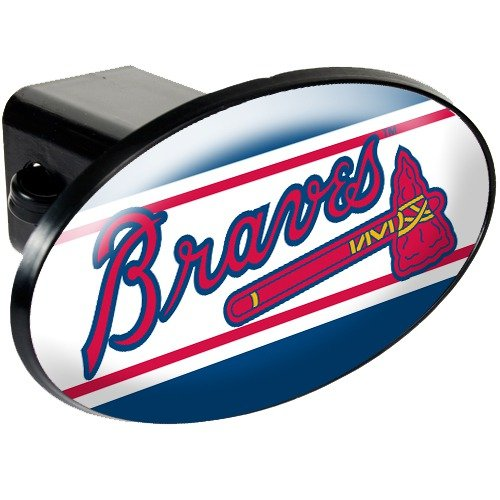 Atlanta Braves Trailer Hitch Cover - Plastic by Great American Products