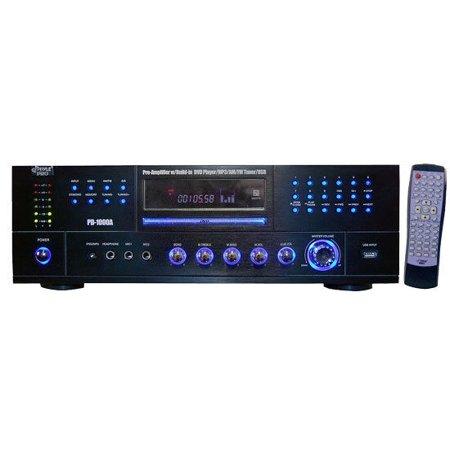 New Pyle PD1000A 1000 Watt AM-FM Receiver w/ Built-in DVD/MP3/USB ()