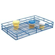 HEATHROW SCIENTIFIC HS120091 Test Tube Rack, Epoxy-Coated Steel, Blue