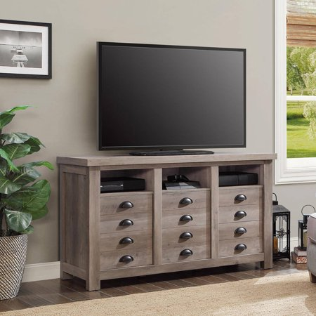 Better homes and gardens granary modern farmhouse printers tv cabinet rustic gray Home garden tv