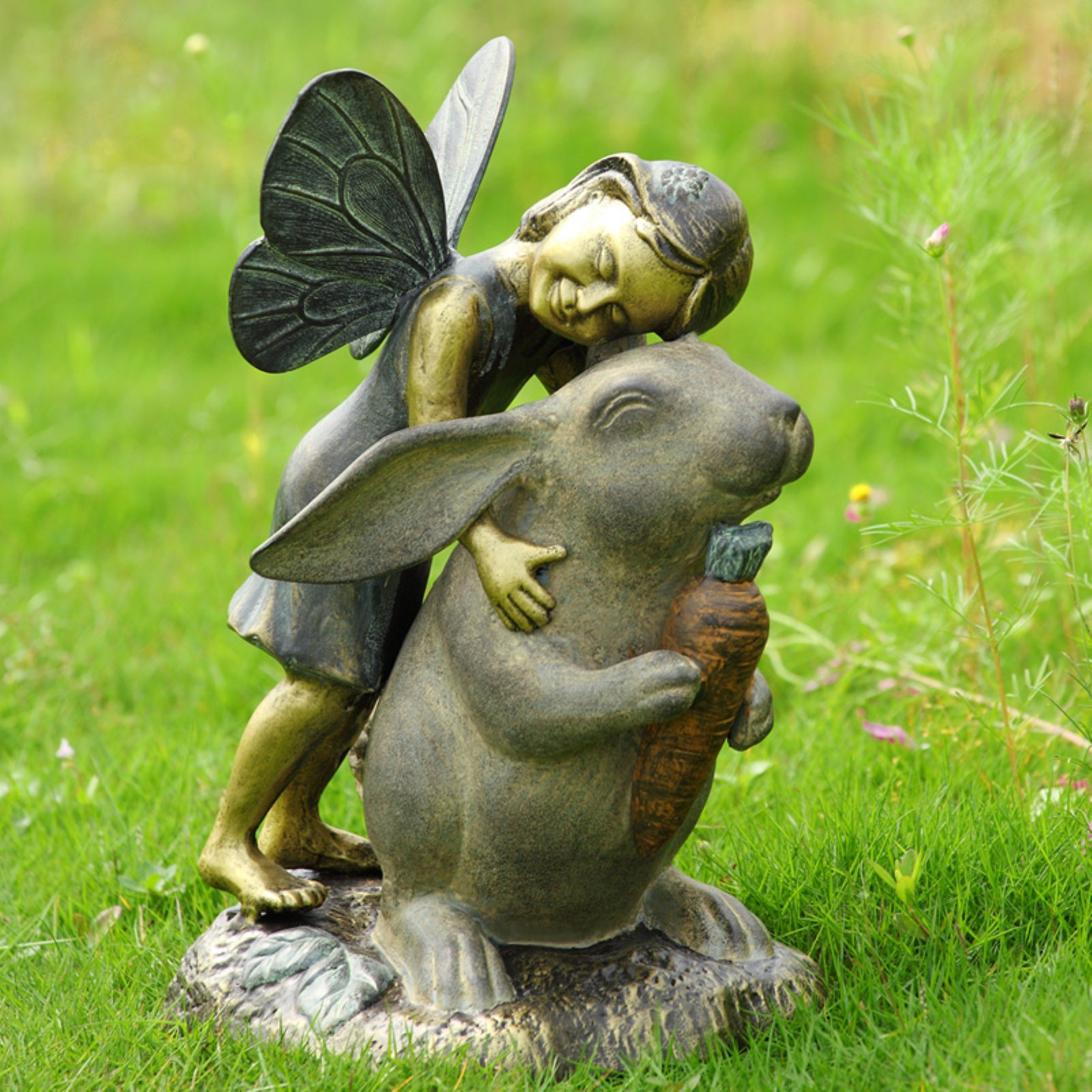 San Pacific International Fairy and Rabbit Happiness Garden Statue