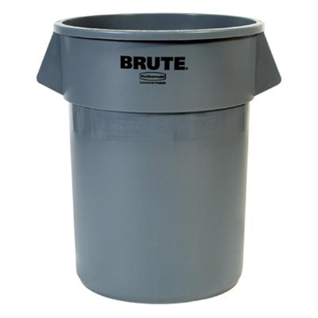 Rubbermaid Commercial 640-2655-GRAY 55Gal Brute Container W-O Lid Trash Can G