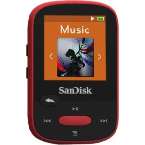 SanDisk Clip Sport SDMX24-004G 4 GB Flash MP3 Player Red by