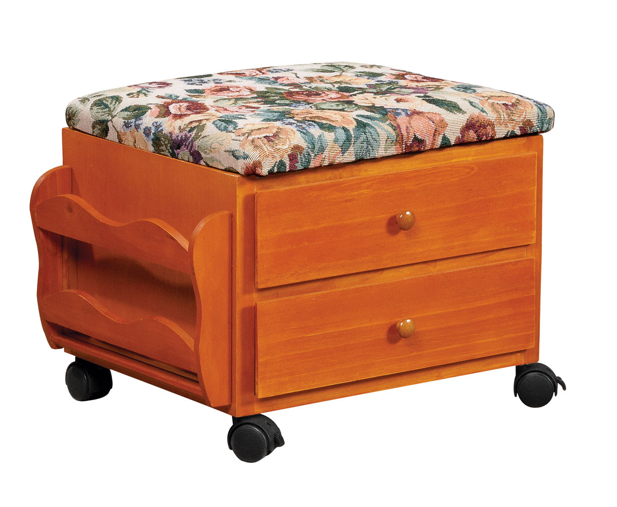 Exceptionnel EasyComforts Roses Storage Rolling Ottoman By OakRidge Accents
