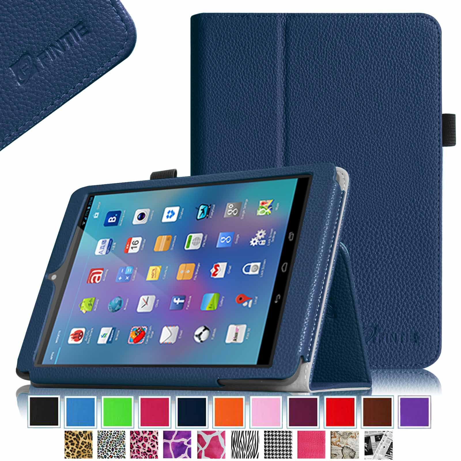 "Fintie Nextbook 8(NX785QC8G) 7.85"" Android Tablet Case - Premium PU Leather Folio Cover with Stylus Holder, Navy"