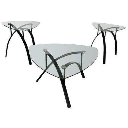 3 Pc Contemporary Coffee Table Set