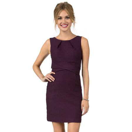Tank Sheath - Teeze Me Sleeveless Tank Cross Waist Sheath Dress With Pockets