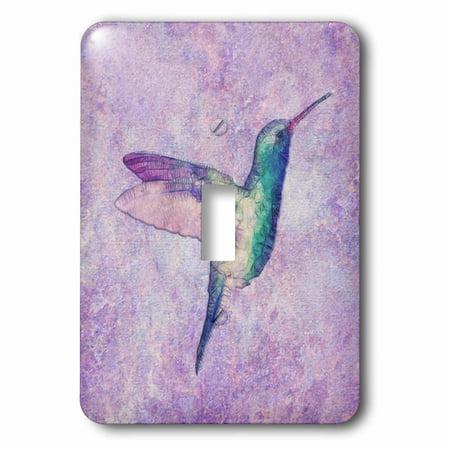 Humminbird Switch - 3dRose Abstract Hummingbird - Single Toggle Switch