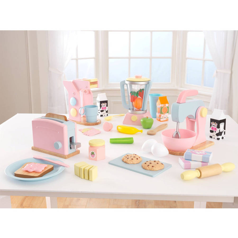 KidKraft Pastel Play Kitchen Accessories 4pk