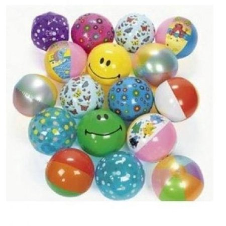 Inflatable Beach Ball Assortment (25 PIECES) - BULK for $<!---->