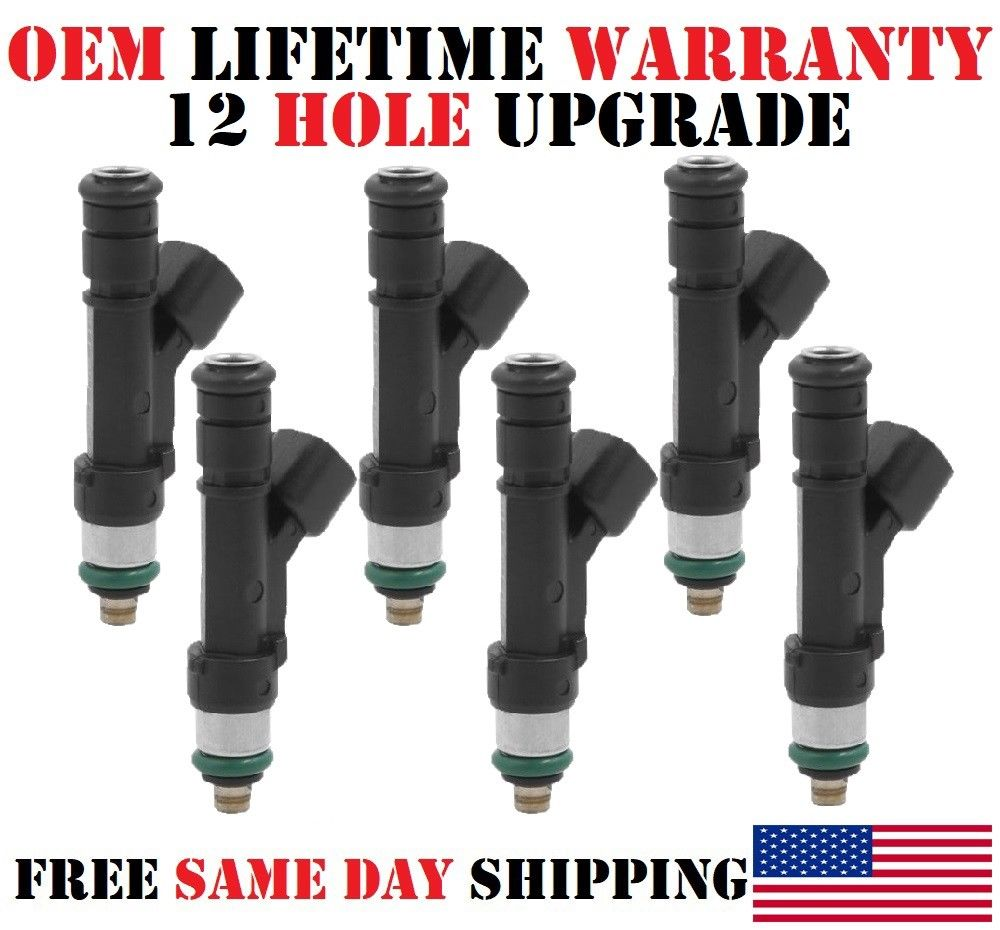 6 Fuel Injectors OEM Bosch for 2007-2009 Mitsubishi Raider 3.7L V6  #0280158020