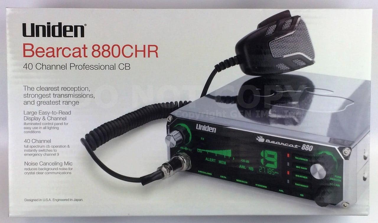New Uniden Bearcat 880 CHROME CB Radio 7 Color Backlit Display w Noise Cancel Mi by Uniden