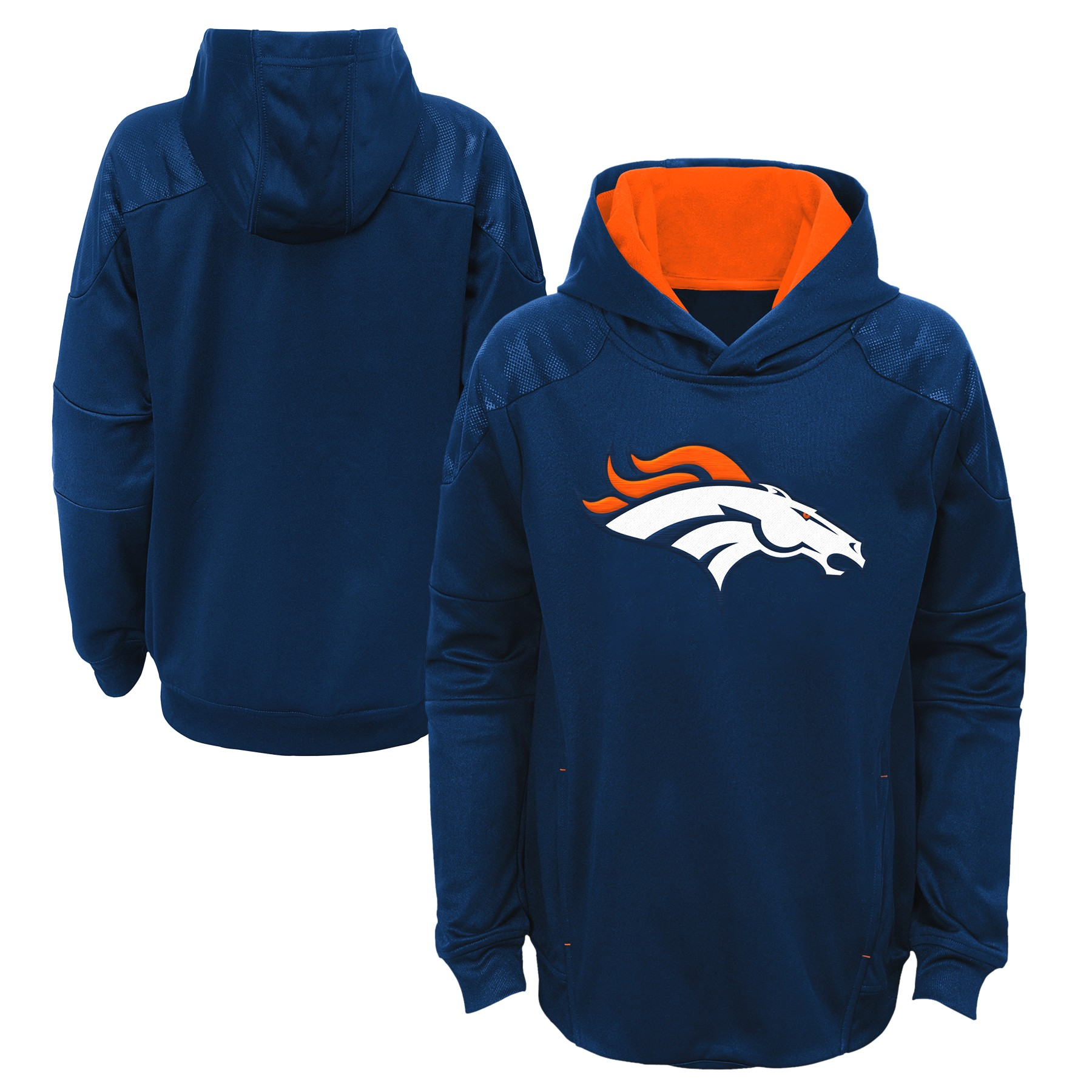 "Denver Broncos Youth NFL ""Mach"" Pullover Hooded Performance Sweatshirt"