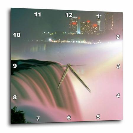 3dRose New York, Niagara Falls. American waterfalls - US33 MGI0096 - Mark Gibson, Wall Clock, 13 by 13-inch