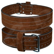 ARD Genuine Leather Power Heavy Duty Weight Lifting Body building Belt Brown Small
