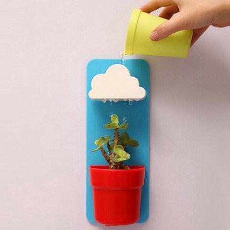 Fysho Succulent pots,Automatic Watering Succulent Wall Hanging Creative Cloud Flower Pot Garden Supplies - Cheap Garden Supplies