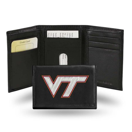 Virginia Tech Embroidered Leather Tri-Fold (Tech Tri Fold)