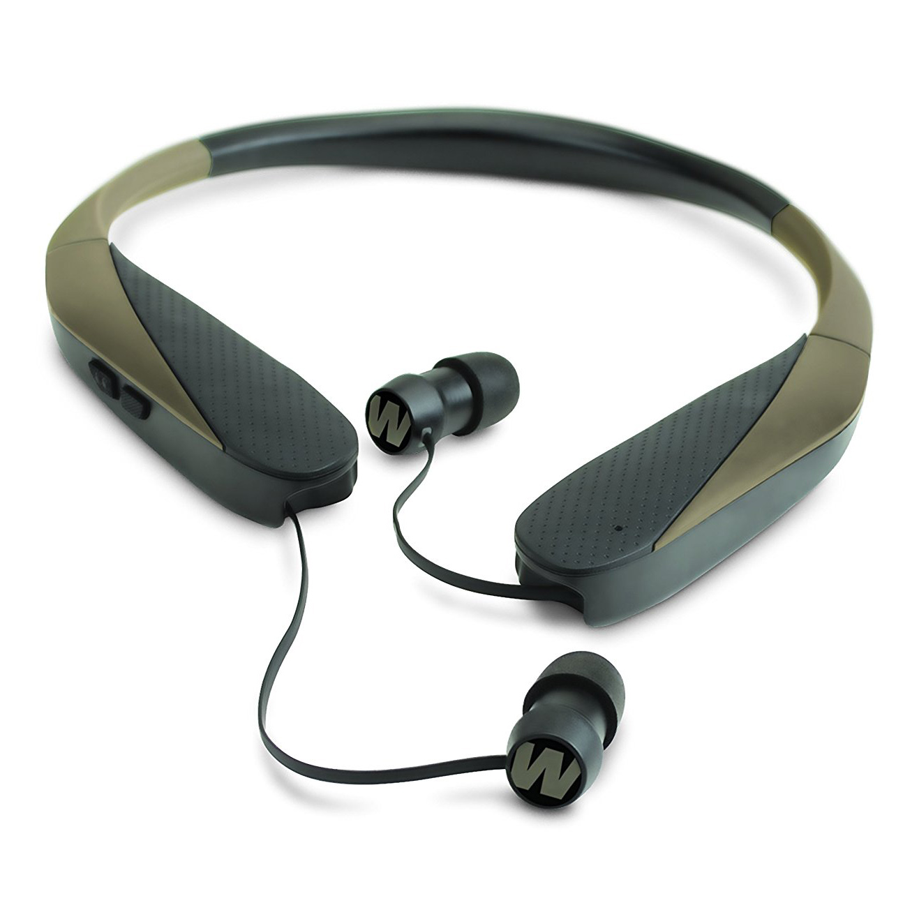 WALKERS GAME EAR RAZR X RETRACT BUDS ELECTRONIC 31 DB FLAT DARK EARTH