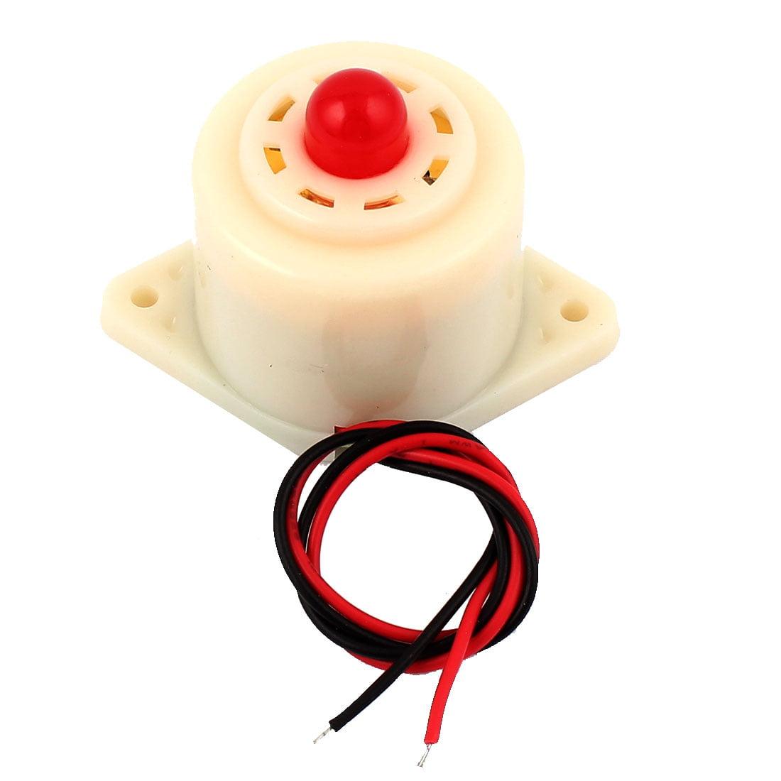 Unique Bargains DC 24V Red Light Flash Intermittent Sound Beep Alarm Electronic Buzzer