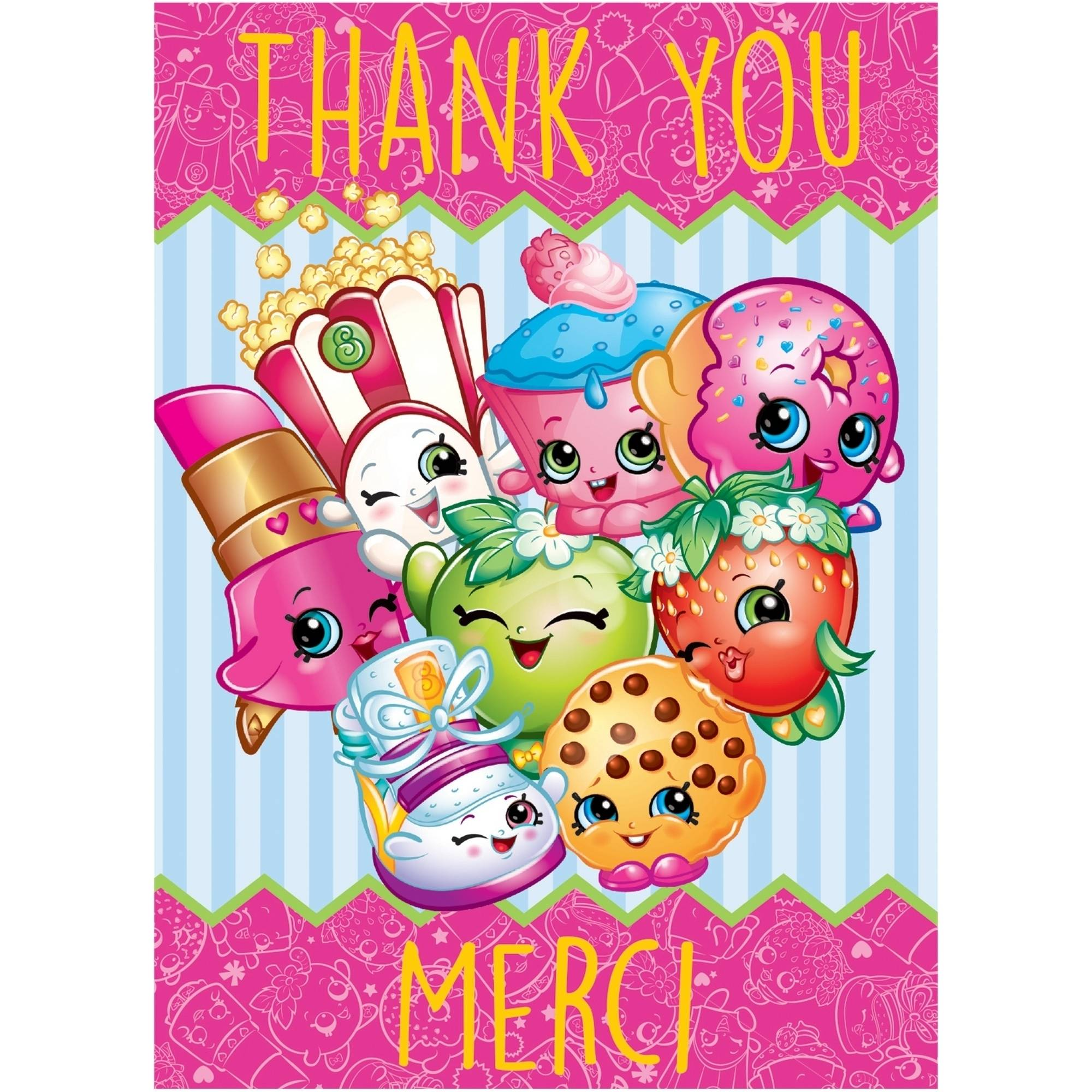 Shopkins Thank You Notes, 8ct