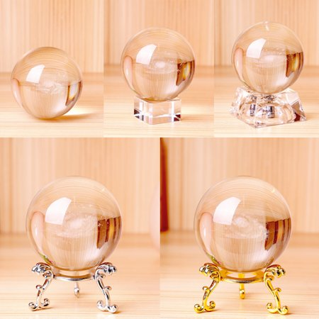 Crystal Ball Globe Galaxy Miniatures 3D Laser Engraved Glass Ball Sphere 60MM for Gifts Home Decor ()