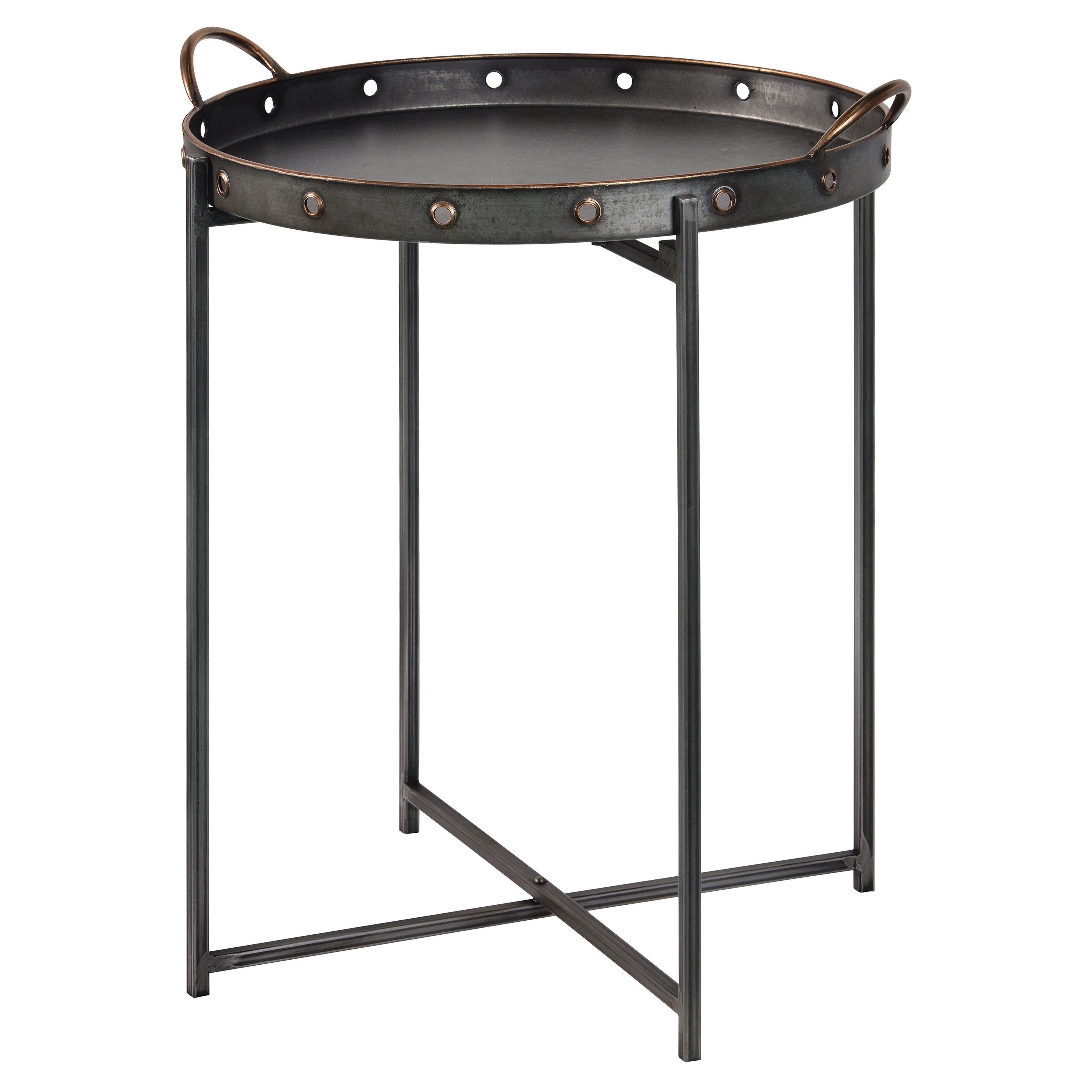 Cooper Classics Davey 20 Inch Round Tray Table