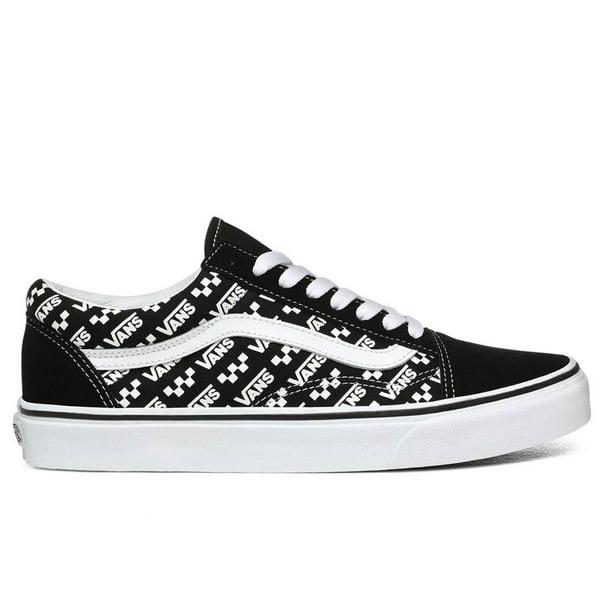 Vans Old Skool Unisex/Adult Shoe Size Mens 6/Womens 7.5 Athletics VN0A4U3BTEZ (Logo Repeat) Black/True White