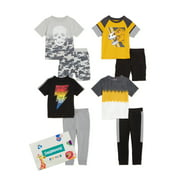 Garanimals Baby Boy and Toddler Boy Short-Sleeve Mix & Match Outfit Kid Pack Gift Box, 8-Piece (12M-5T)