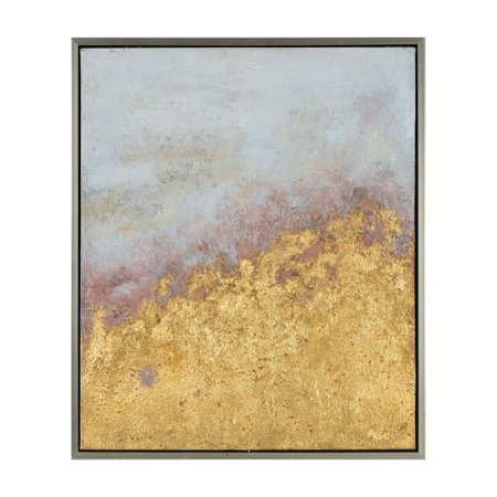 Square Oil Painting - Renwil Scarlett Square Silver Leaf Framed Oil Painting Wall Art