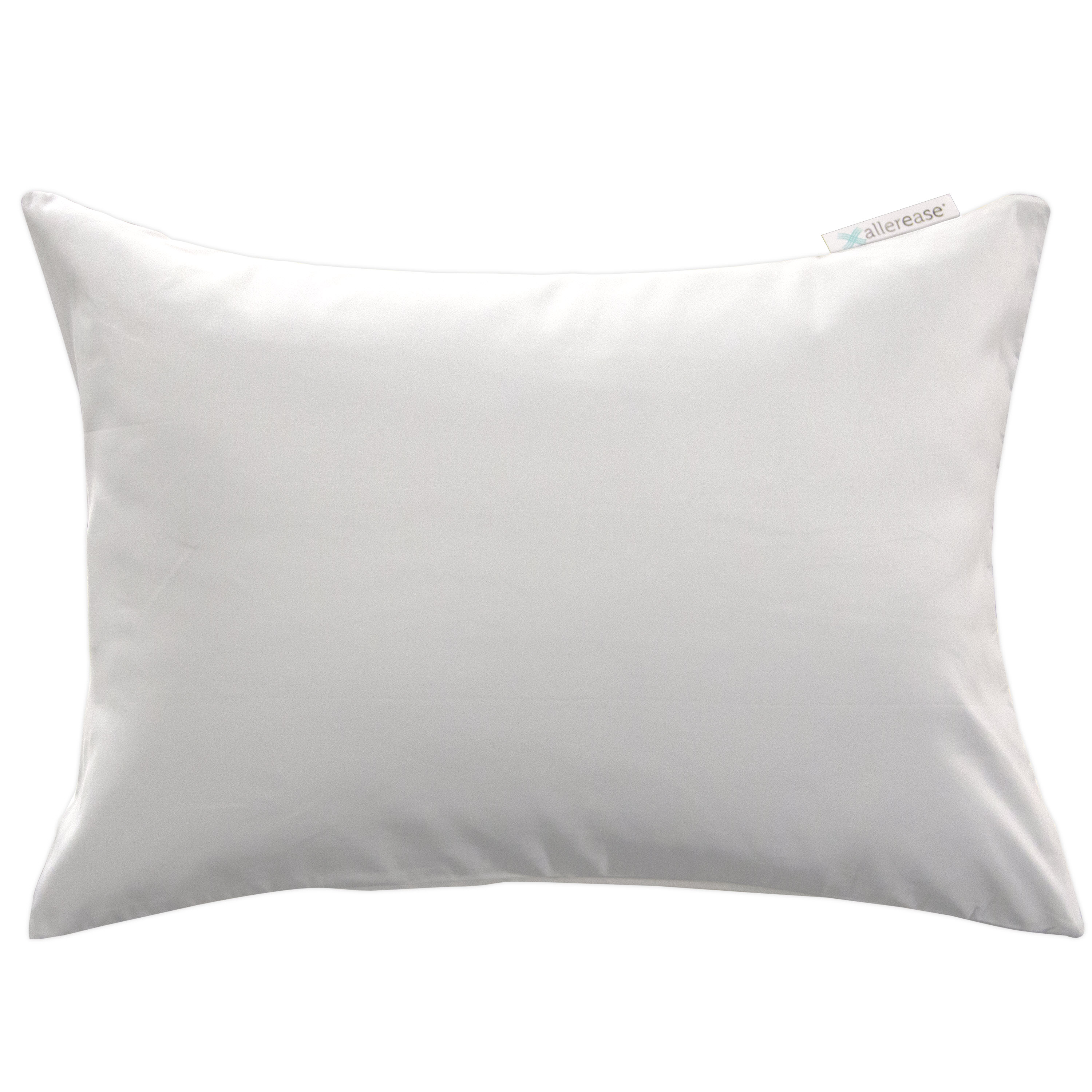AllerEase Zippered Travel Pillow Protector, 14 in x 20 in by American Textile Company