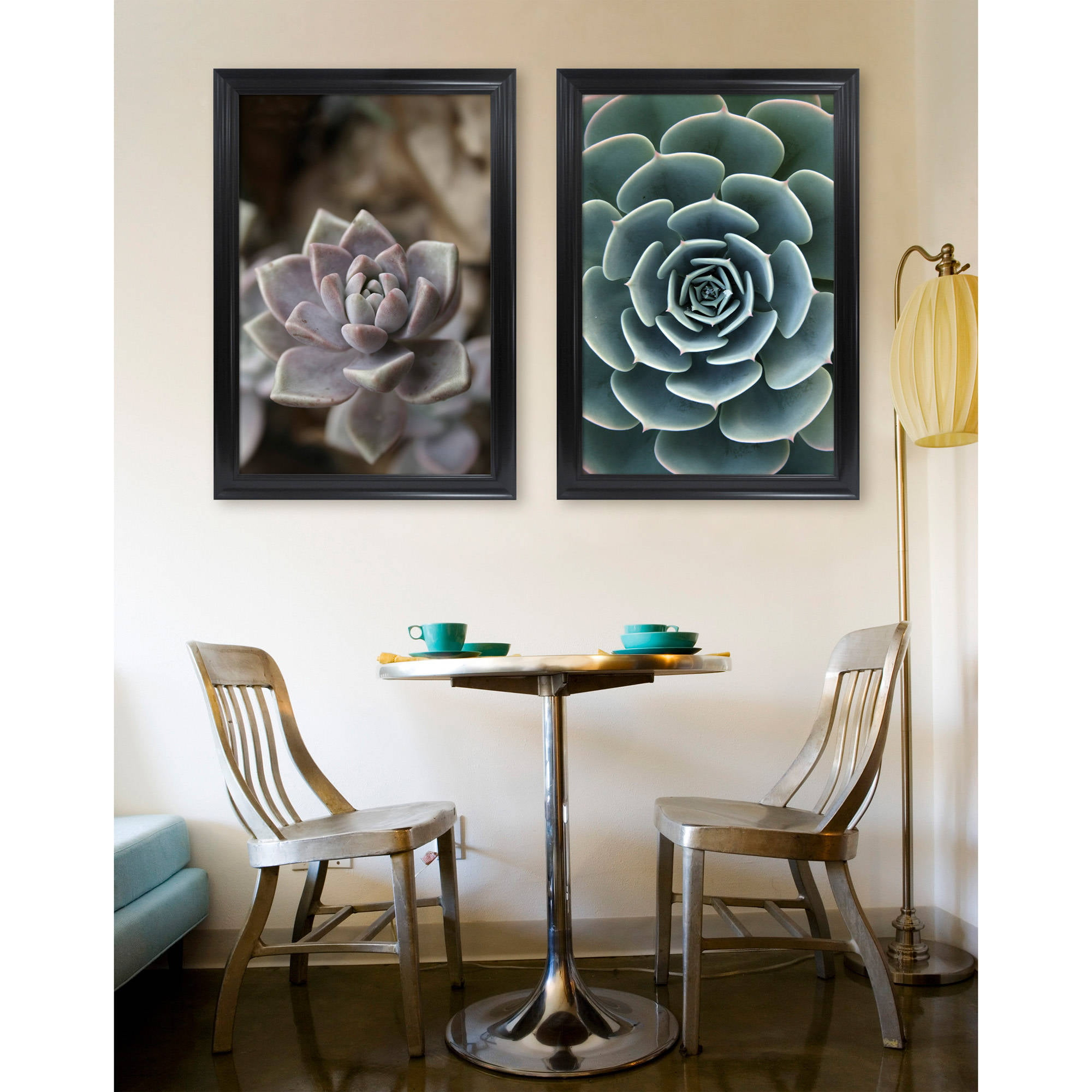 Mainstays 24x36 Wide Black Poster and Picture Frame, Set of 2 ...