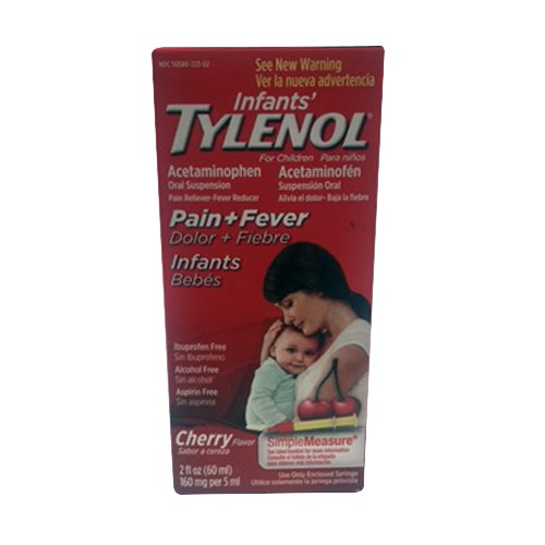 Tylenol Acetaminophen Oral Suspension For Infants, Cherry - 2 Oz, 3 Pack