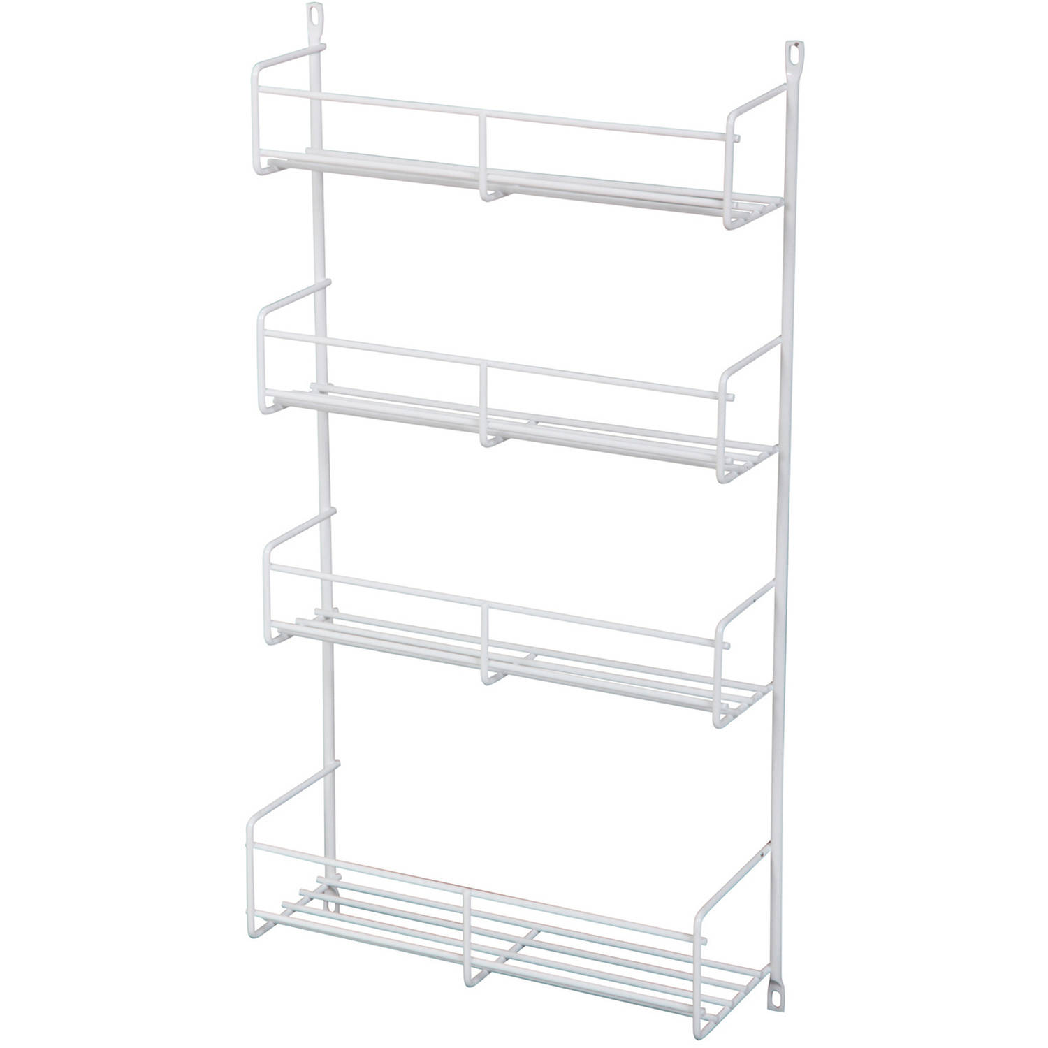 """Real Solutions 18"""" White Door Mount Spice Rack by Knape and Vogt"""