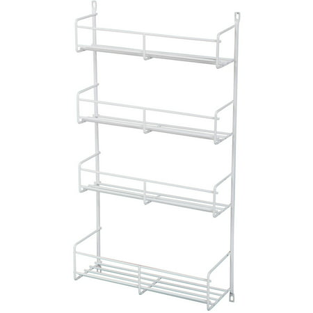 Real Solutions 18  White Door Mount Spice Rack