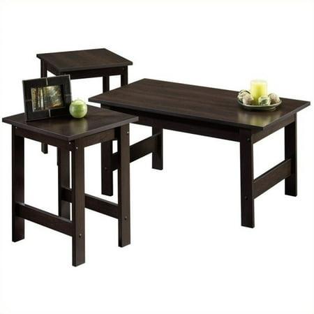 Kingfisher Lane 3 Piece Coffee Table Set in Cinnamon Cherry 3 Piece Birch Table