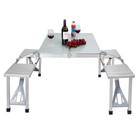 Moustache Aluminum Foldable Picnic Table with 4 Seats - image 6 of 9