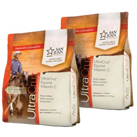 UltraCruz Equine Vitamin C Horse Supplement Pellet Bundle, 2 x 4 lb (32 Day Supply) Each Horse Vitamin Supplement