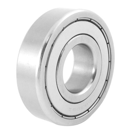 Unique Bargains Siver Tone Stainless Steel 61mm OD 25mm ID Deep Groove Ball Bearing