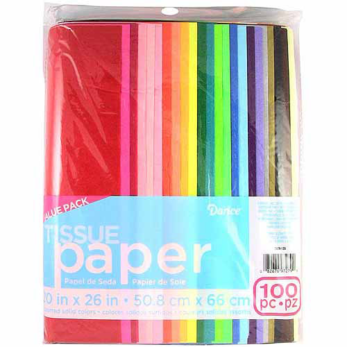 Tissue Paper - Assorted Colors - 20 x 26 inches - 100 sheets